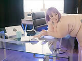 BBW secretary fucks with Boss at work