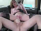 Busty got tits and pussy banged in fake cab