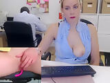 Sexy secretary wants to make her boss cum - See more on: www.Camsturbate.club