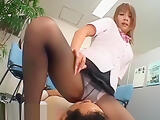 Japanese secretary nylon fetish sex