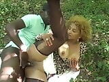 Slutty ebony wife gets shared