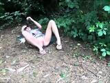 Sexy blonde Debbies outdoor masturbation and flashing