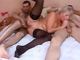 Grey haired Mature is fucked in every Hole