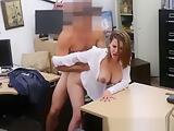 Big Tit Secretary Gets Drilled Behind When Stranded