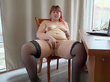 young beautiful secretary bbw, anal with toy