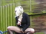 Sexy coed Chaos outdoor masturbation and blonde university