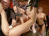 Babe anal fucked after public show