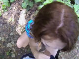 Curly busty redhead teen picked up and fucked hard for money