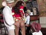 Latina Bar Gangbang the winner gets the Cigar