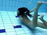 Underwater swimming stripping babe Zhanetta
