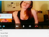 Dude convinces his hot gf to get naked on skype