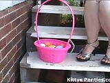 I put on a tiny skirt to go Easter egg hunting in