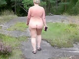 Naked Walk in Forest