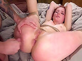 Ass plugged slave pussy banged