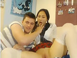 Chaturbate couple school girl uniform sucking and licking