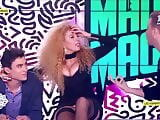 Afida Turner upskirt no panties